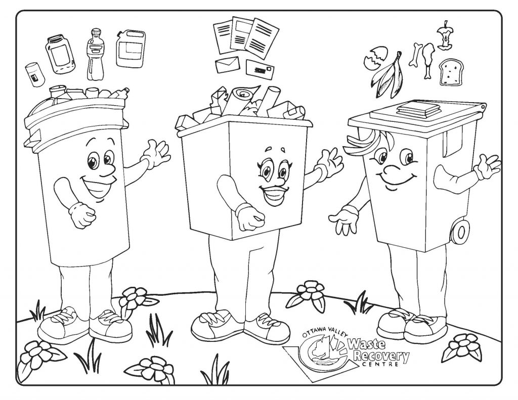 thumbnail of kids coloring page showing three mascots