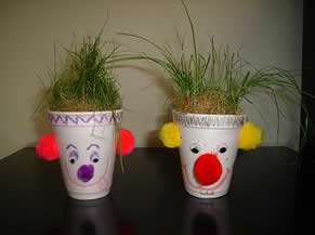 how to make sock grass heads