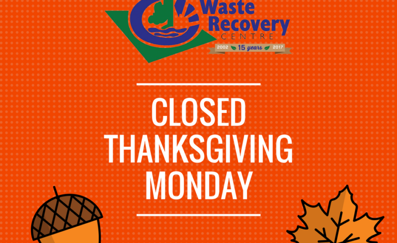orange background with text Closed Thanksgiving Monday