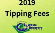 image with green background with text 2019 tipping fees and OVWRC logo