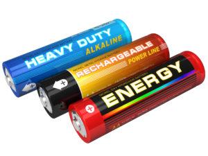 3 double a batteries