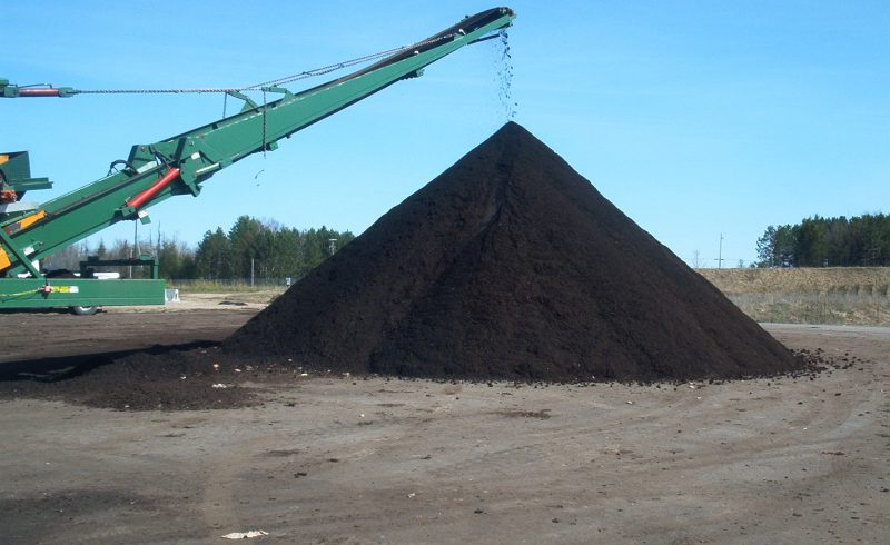 pile of compost at ovwrc