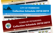 the 2018 and 2019 collection schedules image of the front