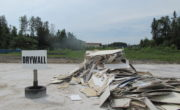 pile of drywall ready to be recycled at OVWRC