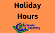 orange block with text holidays hours and OVWRC logo