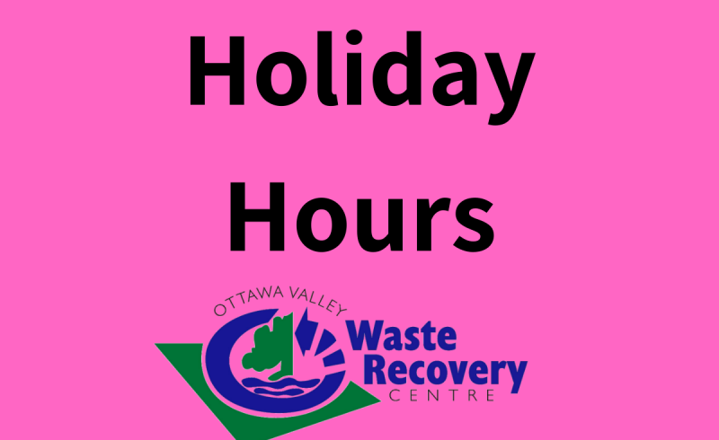 pink image as background with ovwrc logo and text holiday hours