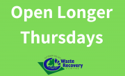 green background with text open longer thursdays