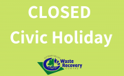 green background with OVWRC logo and text CLOSED civic holiday