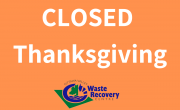 orange background with text Closed Thanksgiving