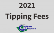 grey background with text 2021 tipping fees and OVWRC logo